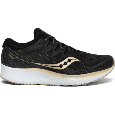 Womens Saucony Ride ISO 2, Black/Gold