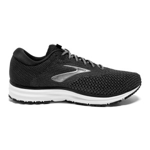 Brooks Revel 2 Mens Running Shoes, Black/Grey/Grey