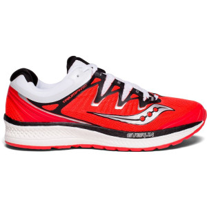 Saucony Triumph Iso 4 Womens Running Shoes, ViziRed/Black/White