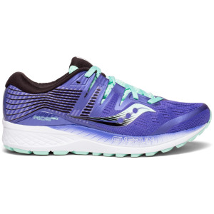 Saucony Ride ISO Womens Running Shoes, Violet/Black/Aqua